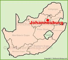 South Africa World Map Johannesburg Location On The South Africa Map