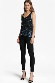 sears jumpsuits sedgwick sparkle chiffon top collections connection