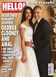 hello wedding dress george clooney and amal alamuddin world exclusive wedding