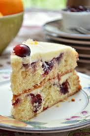 gluten free cranberry clementine cake with white chocolate ganache