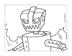 robot coloring pages kids coloringstar pictures print free
