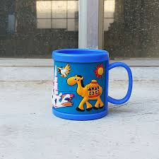 design plastic mug customized design plastic cold drinking milk mugs for children cups