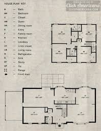 2 story home plans an almost custom 2 story home plan 1964 click americana