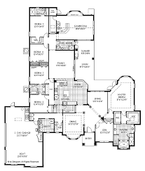 5 bedroom 4 bathroom house plans floor plans aflfpw02368 1 mediterranean home with 5