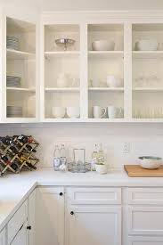 open kitchen cabinets with no doors sparkling white quartz countertops inspirations with pros