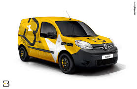 renault yellow renault kangoo van wrap design by essellegi