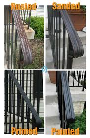 front yard care and de rusting metal railings remove rust and rust