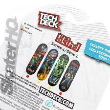 Blind Micro Skateboard Tech Deck Blind Reaper Fire Series 4 Skater Hq