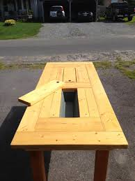 Plans For Patio Table by Bench Bench Cooler Diy Outdoor Bar Built In Cooler Bench Plan