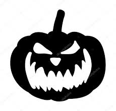 scary pumpkin face vector symbol icon design u2014 stock vector