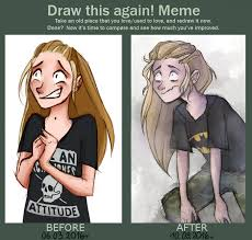 Draw It Again Meme - draw this again meme myself by kmicicowa on deviantart
