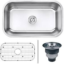 Kitchen Sinks For 30 Inch Base Cabinet by Kraus Khu100 30 30 Inch 16 Gauge Undermount Single Bowl Stainless