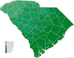 map of and south carolina south carolina physical map and south carolina topographic map