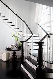 Painting Banisters Ideas Mini Makeover Paint Your Banister Black Black Banister