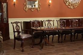 12 Seat Dining Room Table Home Design Large High End Mahogany Dining Table Seats 12 14 For