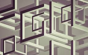 Optical Illusion Wallpapers Digital Art Abstract Cube Lines 3d 3d Object Monochrome