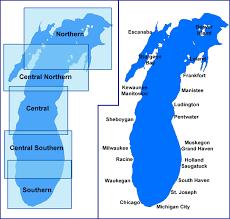 map of michigan lakes michigan sea grant coastwatch