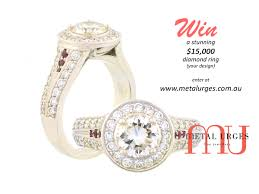 win a wedding ring win a stunning 15 000 diamond ring of your design custom made in