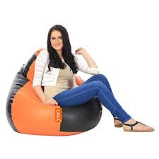 galaxy decorz classic orange u0026 black bean bag large cover at