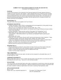Best Youth Resume by Church Resumes Online Ministry Resume Templates Best Business