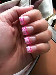 nails white tip pink zebra my own pics pinterest pink