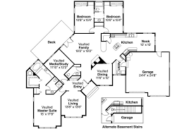ranch floor plans with walkout basement house plans walkout basement side sloping lot house plans