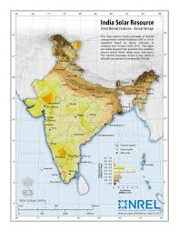India Map Of States by Nrel International Activities India Solar Resource Maps U0026 Data