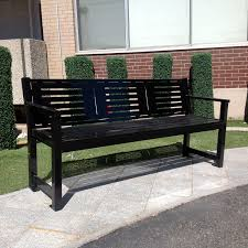 Ipe Bench Public Bench Contemporary Ipe Steel Mlb400 Maglin Site