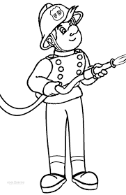 fireman coloring page printable firefighter coloring pages