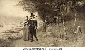 pilgrims stock images royalty free images vectors
