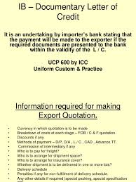 Letter Of Credit Validity documentary letter of credit letter of credit bill of lading