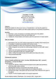 resume for a registered nurse template sample icu rn resume toreto co