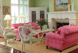 pink and green room decorating with pink and green town country living