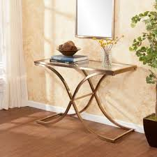Upton Home Coffee Table Upton Home Ambrosia Chagne Brass Console Sofa Table