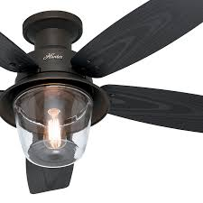 Ceiling Fan Manufacturers Usa 52 U0026 034 Hunter Indoor Outdoor Ceiling Fan In New Bronze With