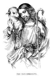 vintage easter graphics jesus with lamb and cross the graphics