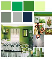 what colour goes with green walls combination for dress material