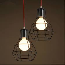 Industrial Pendant Light Shade by Retro Industrial Black Cage Pendant Light Wrought Iron Hanging