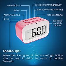 best light up alarm clock alarm clock geree cute emoji desk clock smart backlight