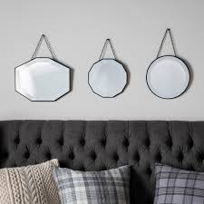 Decorative Wall Mirror Sets Glass Framed Scatter Set Of 3 Mirrors Glass Framed Scatter Set Of