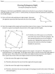 pythagorean theorem proof discovery worksheet by free to discover