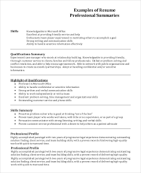 profile exles for resumes profile exle for resume geminifm tk