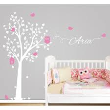 Personalized Nursery Wall Decals Owl Tree Wall Sticker Personalized Name Vinyl Wall Decals For
