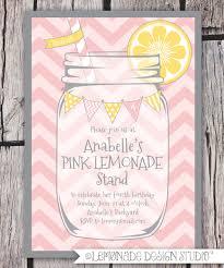 pink lemonade invitation printable lemonade stand invitation
