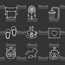 sleeping accessories sleeping accessories icons stock vector art 859111520 istock