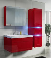 badezimmer rot kaufexpert badmöbel set prestige 1 rot hochglanz lackiert
