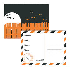 free printable halloween party postcard invitations halloween