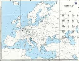 Middle Eastern Map Map Of Europe And The Middle East Prior To World War Ii