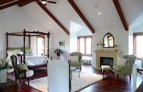 vaulted ceiling beams frenchflair traditional bedroom vancouver