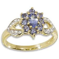 diamond tanzanite rings images Treasure of tanzanite diamond 9ct gold ring danbury mint jpg
